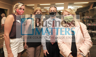 Nicole Thurner, Zunder and Associates; Kelly Carney, Eva Bryn Shoetique; Mark Buchek, Northwest Bank; Ruth Purcell, Butler County Comunity College.