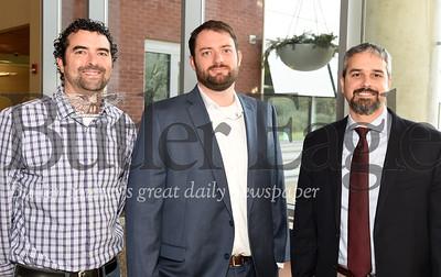 left - right: Jonathan Garczewski, Gateway Engineering; Ben Gilberti and Jeff Mikesic, both from HRG