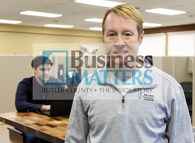 John Giles, Butler Business Systems.  Harold Aughton/Butler Eagle.