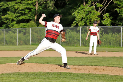 Center Township's Shane McIntire eyes his pitch against East Butler Tuesday. Seb Foltz/Butler Eagle