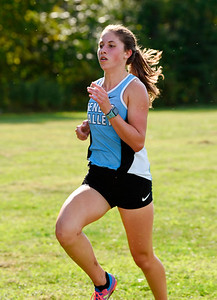 Harold Aughton/Butler Eagle: Seneca Valley junior, Dylan Kirchner took second place in the girls cross country meet at Seneca Valley with a time of 20:57.