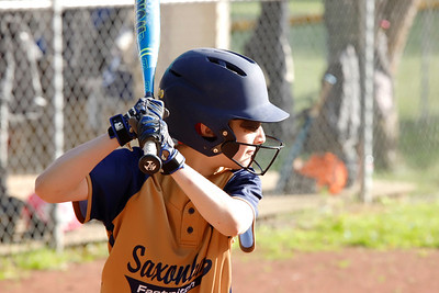 Sadie Hawk steps up to bat for Saxonburg in their 10u softball game against Freeport Friday, June 14, at . Seb Foltz/Butler Eagle