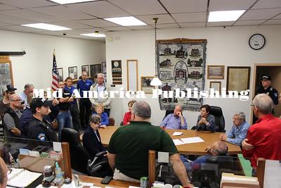 Flood 2016 elected officials visit Clarksville, Iowa, Saturday, Sept. 24