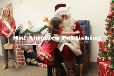 Santa at Clarksville Public Library