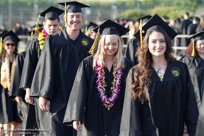 The Butte College students enter the commencement ceremony for the Butte College Class of 2016 May 27, 2016 at Butte College in Oroville, Calif. (Emily Bertolino -- Enterprise-Record)