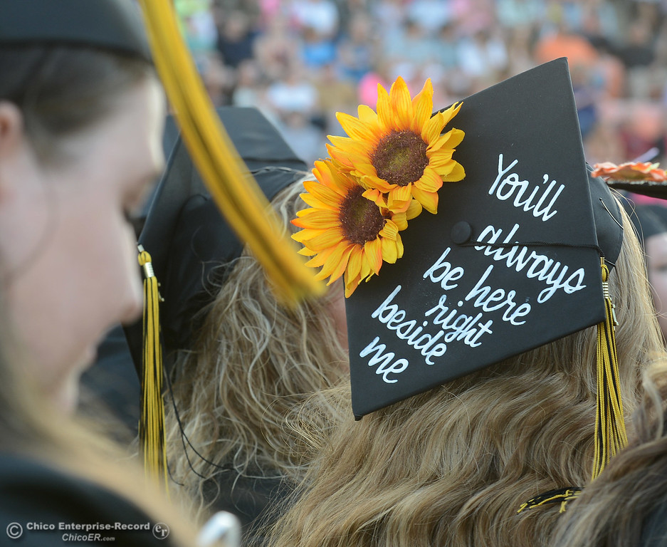 . Butte College students graduate Friday, May 26, 2017, at Cowan Stadium in Butte Valley, California.  (Dan Reidel -- Enterprise-Record)