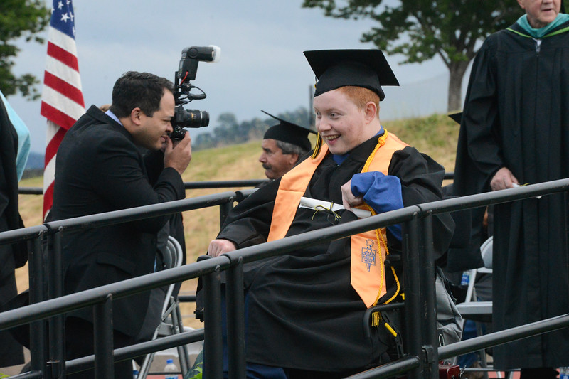 Sean Lee Spence graduates from Butte College, May 25, 2018,  in Chico, California. (Carin Dorghalli -- Enterprise-Record)