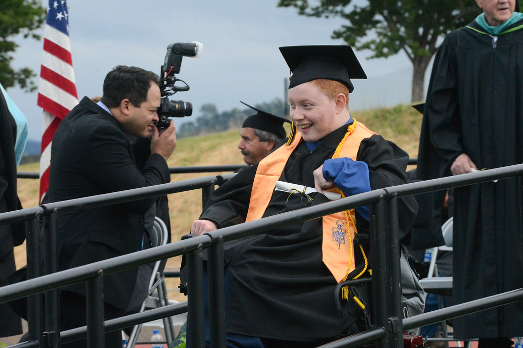 . Sean Lee Spence graduates from Butte College, May 25, 2018,  in Chico, California. (Carin Dorghalli -- Enterprise-Record)