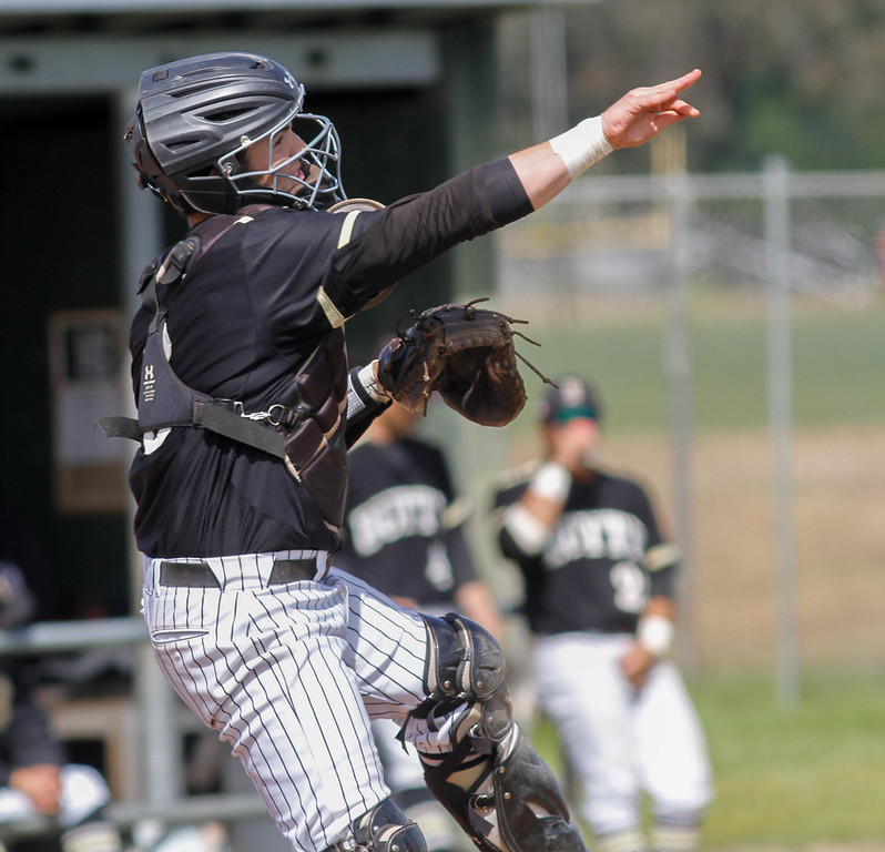. The Butte College baseball team host College of the Siskiyous for a doubleheader Monday April 10, 2017 at Butte College in Oroville, California. (Emily Bertolino -- Enterprise-Record)