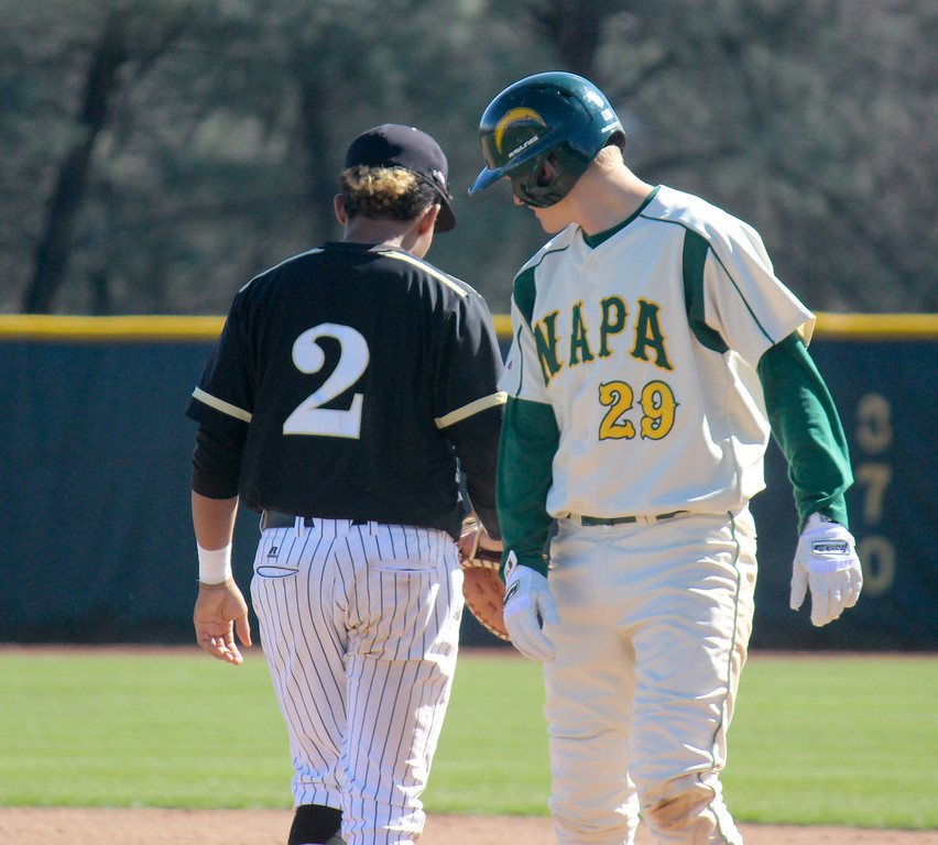 . Napa Valley College at Butte College men\'s baseball Monday February 27, 2017 at Butte College in Oroville, California. (Emily Bertolino -- Enterprise-Record)