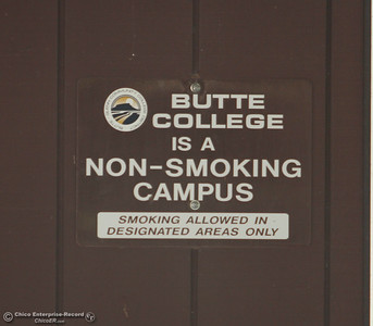 No smoking as the first day of school starts Monday, Aug. 20, 2018, at Butte College in Butte Valley, California. (Dan Reidel -- Enterprise-Record)