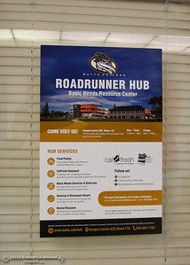 A poster advertising the Roadrunner Hub. The first day of school starts Monday, Aug. 20, 2018, at Butte College in Butte Valley, California. (Dan Reidel -- Enterprise-Record)