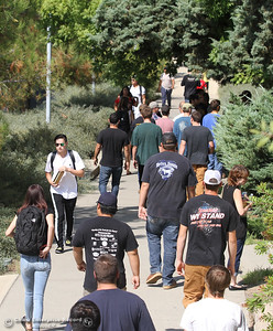 The first day of school starts Monday, Aug. 20, 2018, at Butte College in Butte Valley, California. (Dan Reidel -- Enterprise-Record)