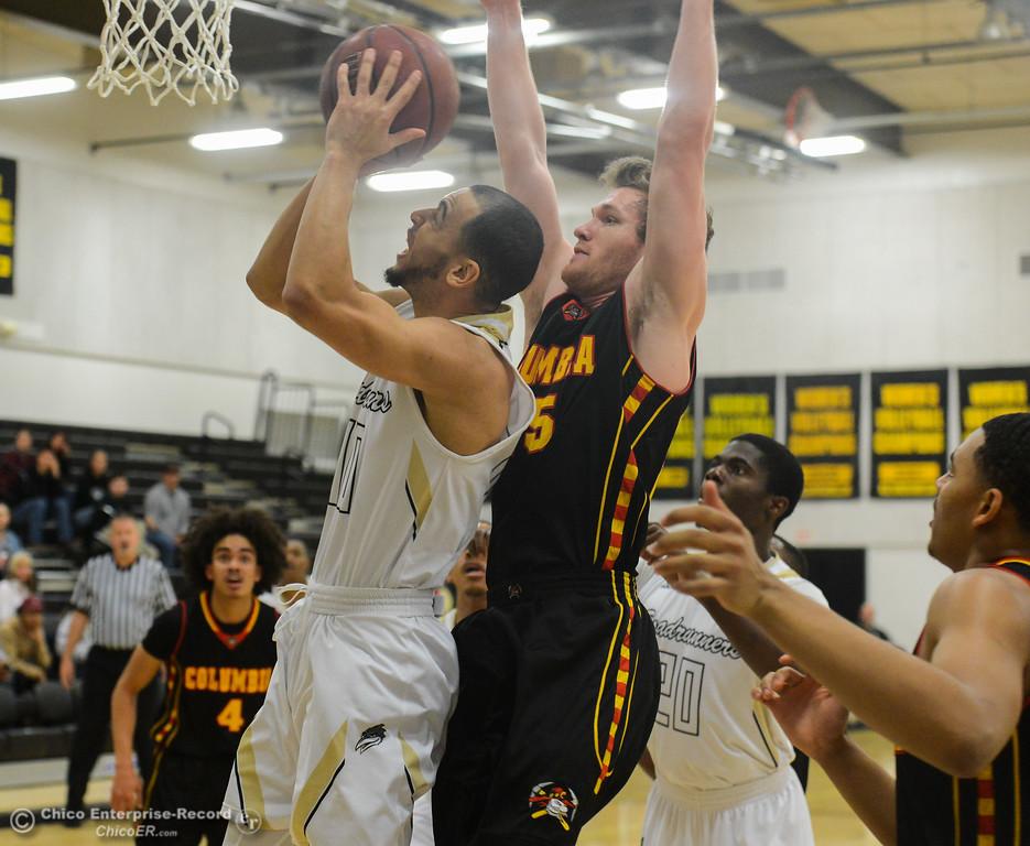 . Butte College men\'s basketball hosts Columbia College December 30, 2017 in Butte Valley, California. (Emily Bertolino -- Enterprise-Record)