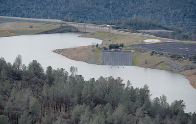 Lake Oroville near the Spillway Launch Facility seen during a PG&E  flight looking for drought-stricken trees in the Oroville foothills Wednesday, Jan. 25, 2017. (Bill Husa -- Enterprise-Record)