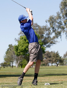 Sutter High's Caleb Crother during the Butte View golf meet Wednesday April 6, 2016 at Table Mountain Golf Course in Oroville, Calif. (Emily Bertolino -- Enterprise-Record)