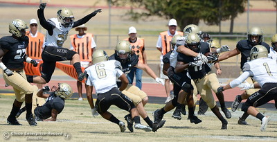 during Butte vs Delta football at Cowan Stadium in Chico, Calif. Saturday Sept. 1, 2018. (Bill Husa -- Enterprise-Record)