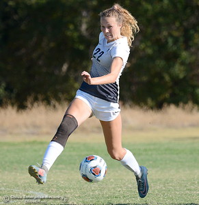 during Butte College vs Sierra College womens soccer at Butte College in Chico, Calif. Thurs. Sept. 6, 2018.  (Bill Husa -- Enterprise-Record)