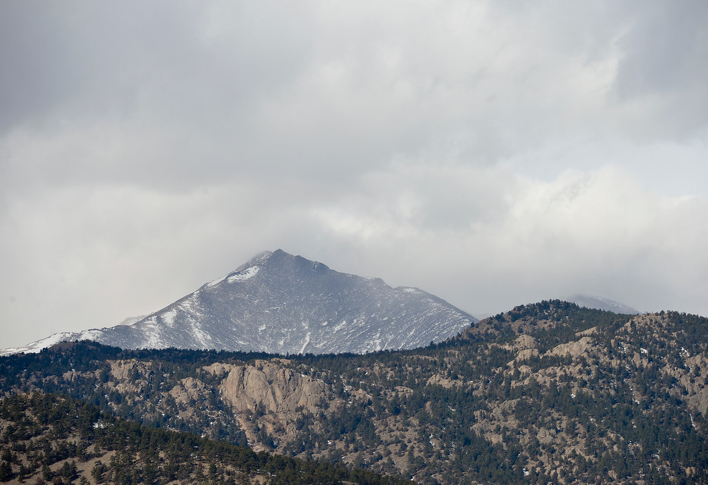 . LYONS, CO - FEBRUARY 28: Mount Meeker is seen from Picnic Rock above Button Rock Dam February 28, 2019. To view more photos visit timescall.com. (Photo by Lewis Geyer/Staff Photographer)