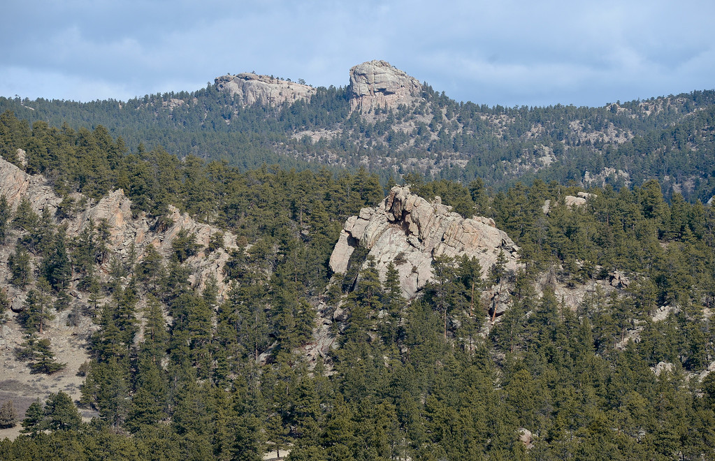 . LYONS, CO - FEBRUARY 28: Button Rock is seen from Picnic Rock, above Button Rock Dam, February 28, 2019. To view more photos visit timescall.com. (Photo by Lewis Geyer/Staff Photographer)