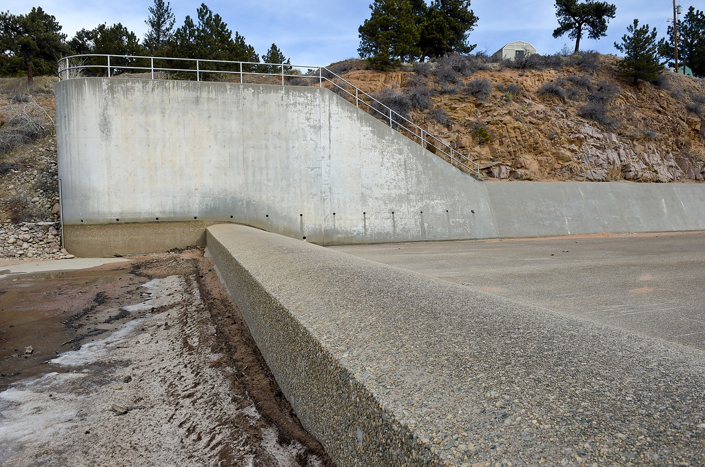 . LYONS, CO - FEBRUARY 28: The spillway around Button Rock Dam February 28, 2019. To view more photos visit timescall.com. (Photo by Lewis Geyer/Staff Photographer)