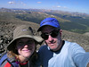 At the top of 13,500 ft. high Mt. Ypsilon, Rocky Mountain National Park, CO.