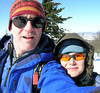 Nippy day, goofy sunglasses, on Cabin Mountain above the Canaan Valley, WV