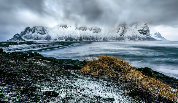 Snow Squall at Vestrahorn
