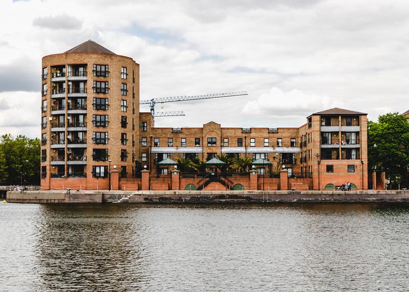 Modern Flats on a River