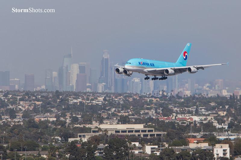 Korean Air Landing at LAX