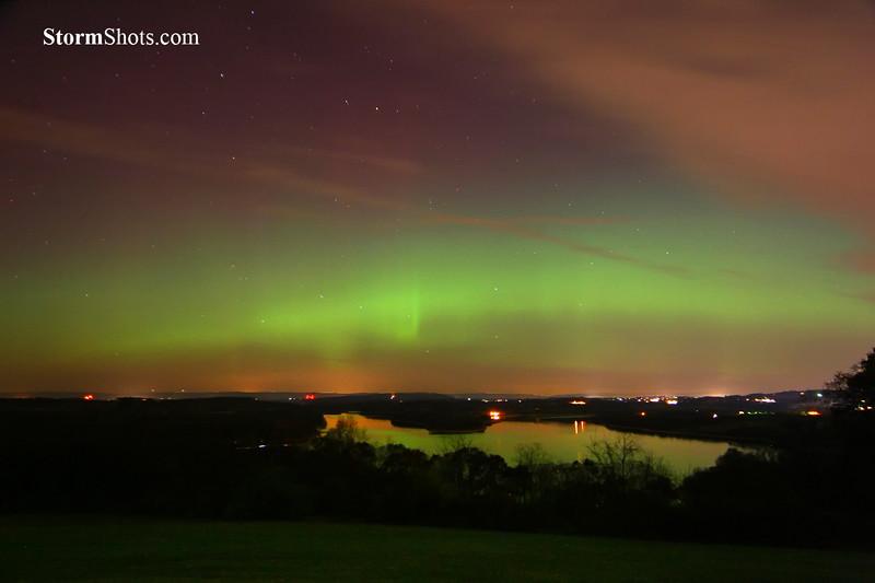 Northern Lights Reflections - Berks County Pennsylvania