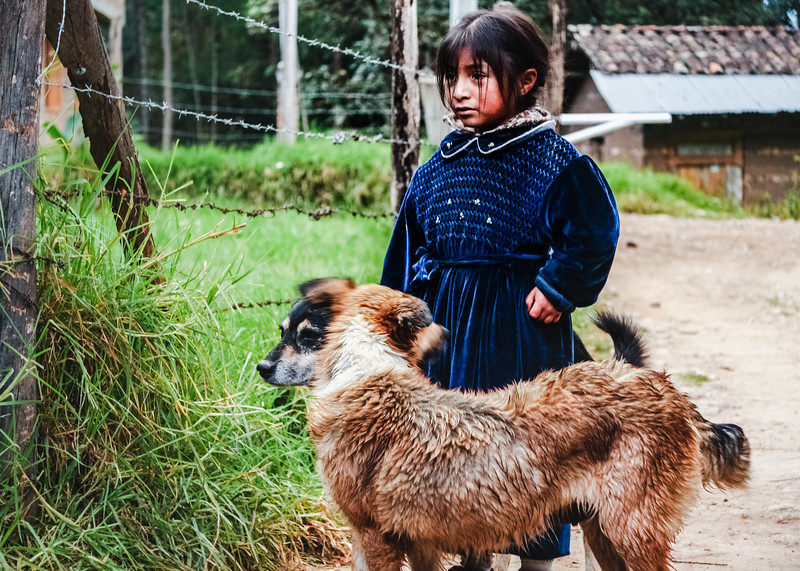 Guarded Peruvian Girl