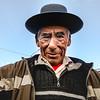 Old Peruvian Man with Pork Pie Hat
