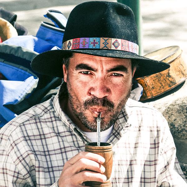 Man Drinks Mate