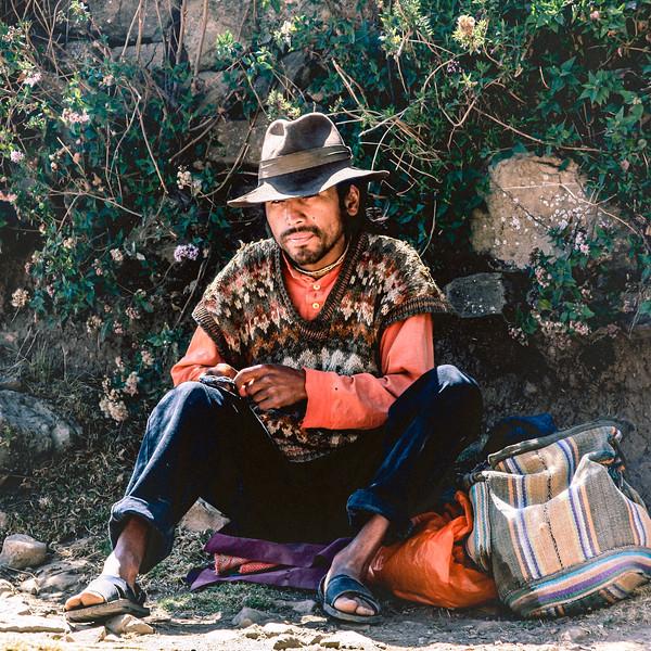 Man Rolling Cigarette