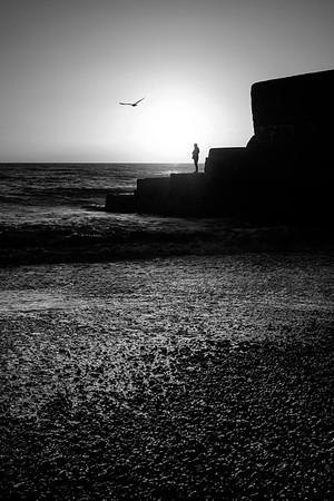 Brighton Sunset - mono