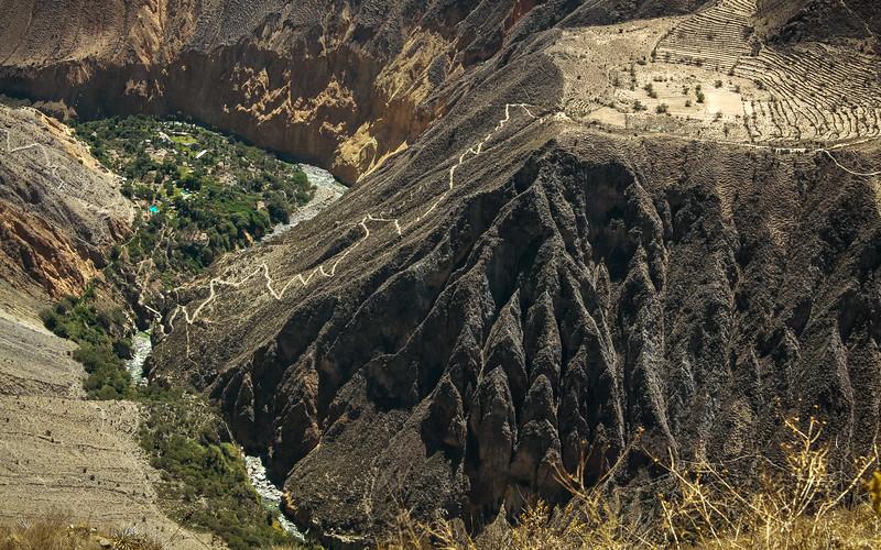 Base of Colca Canyon