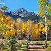 Aspen Framed Mt. Sneffels View - County Road 5 - Ridgeway, Colorado