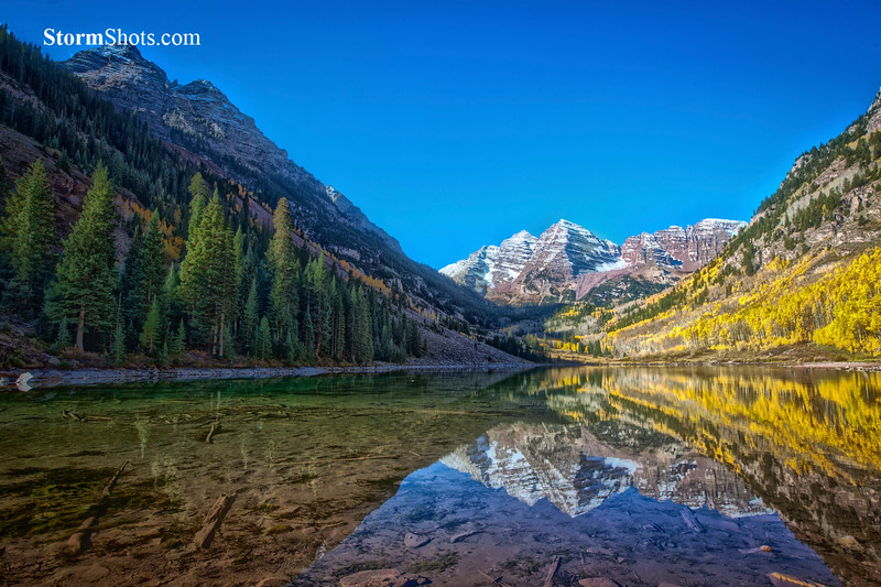 Maroon Bells Reflections - Aspen, Colorado