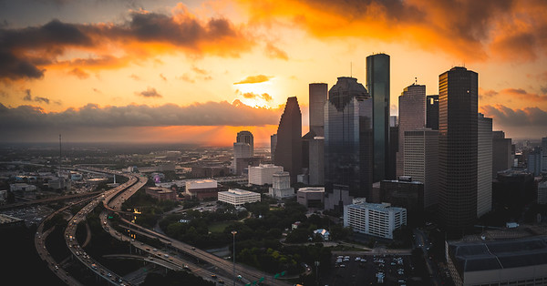 Houston sunrise