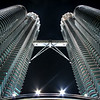 Underneath the KL Towers By Night