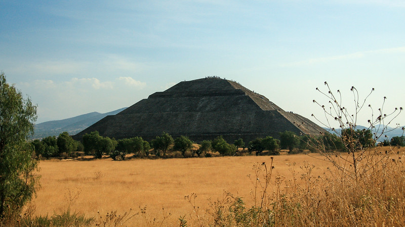 Side of the Pyramid of the Sun