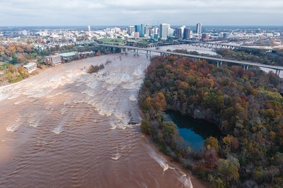 Flooded James River