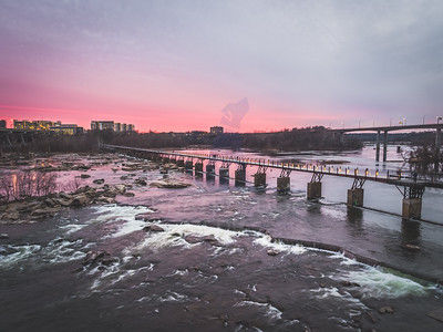 Sunset over the James River