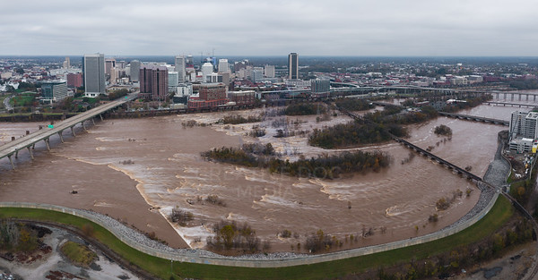 Flooded James River