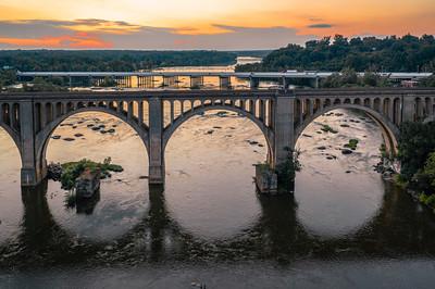 Train Bridge Sunset