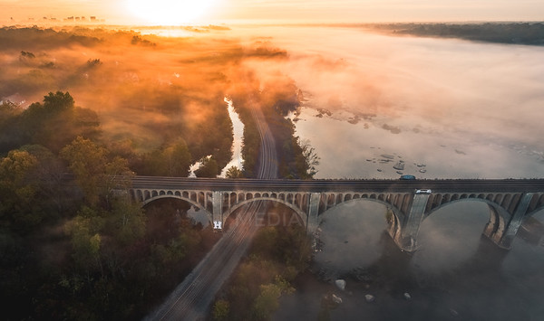 Train Bridge sunrise
