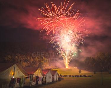 Fireworks over Camp Alleghany