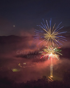 Fireworks over Camp Alleghany