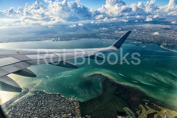 Wing dip over Miami